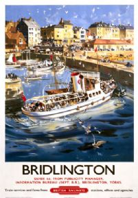 Vintage travel poster, Bridlington, Yorkshire. British Railway poster.